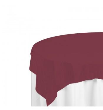 Burgundy Polyester Overlay