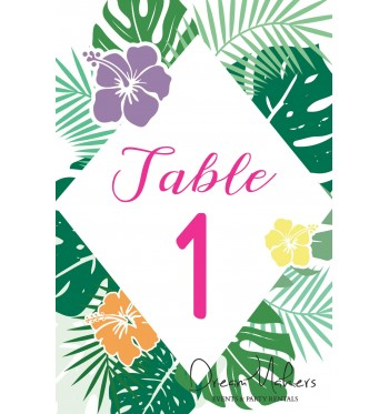 Terrific Tropical Hawaiian Party Table Numbers Signs 4 X 6 Numbers From 1 10 Download Free Architecture Designs Rallybritishbridgeorg